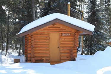 Our Sauna covered with snow