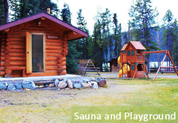 Sauna and Playground in the summer