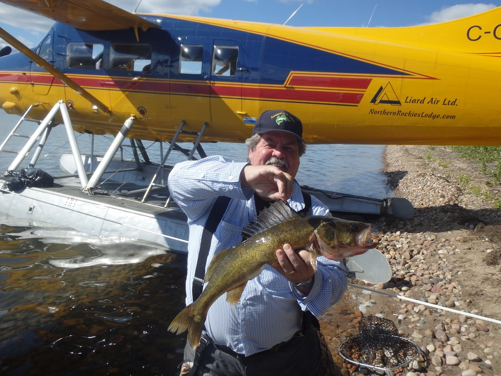 Tom with a Walleye