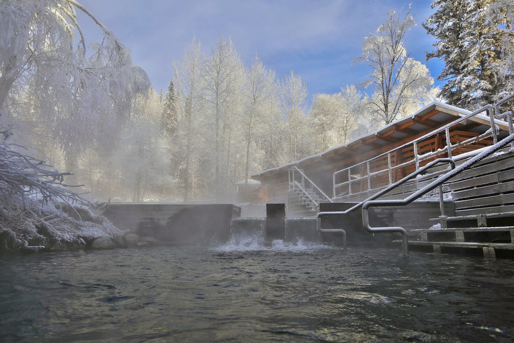 Liard Hotsprings! - The Liard Hot Springs continue to stay open throughout the winter and offer those passing by a relaxing break from the Alaska Highway! With a 1km walk across a boardwalk you find this hidden treasure! With water temperatures as high as 52 degrees (celsius!)
