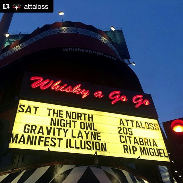 Citabria on marquee at @thewhiskyagogo last weekend!  #citabriamusic #citabriarroz #hollywood #sunsetstrip #socaltour #barbrocksnemesis #nemesisroster