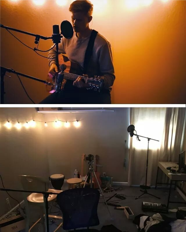 "Making of a cover: what you see vs. what you don't.  @lucasgordonofficial just posted a new #cover of ""We Had Everything"" by @BROODSMUSIC, off their new album, #Conscious and it's fantastic. He put in tons of work on this one - head over to Youtube and check it out!  https://www.youtube.com/watch?v=podH_dCETfo  #LucasGordon #BROODS #WeHadEverything #Conscious #johnmayer #edsheeran #vancejoy#benhoward #hozier #jamesbay #pentatonix#blueeyes #blonde #fender #blues #schecter#music #singersongwriter #barbrocks #nemesismediainc"