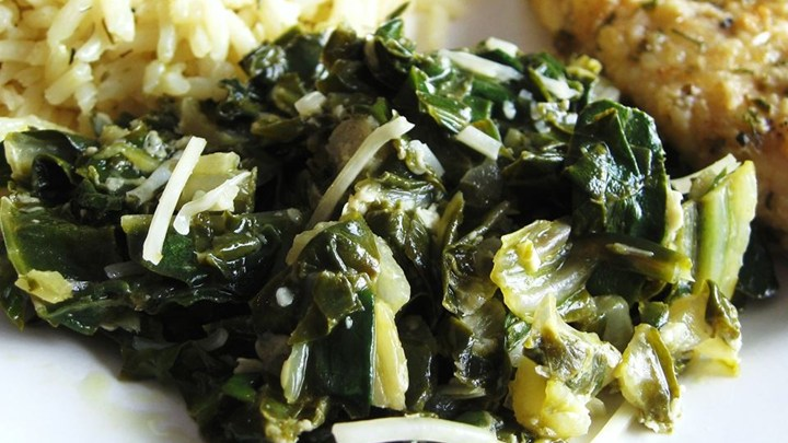 http://allrecipes.com/recipe/148889/sauteed-swiss-chard-with-parmesan-cheese/