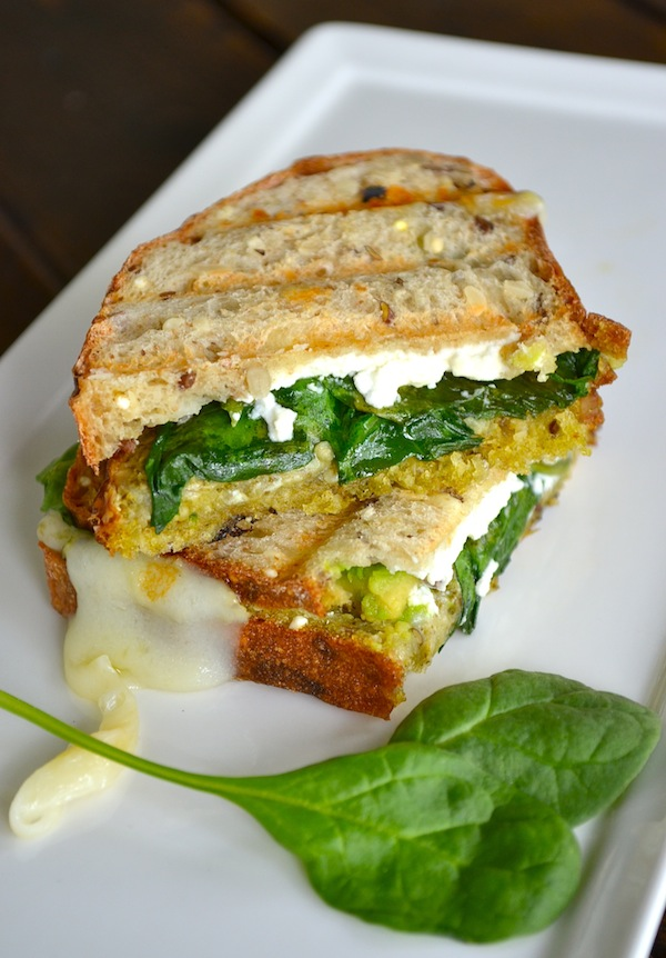 from http://rachelschultz.com/2012/12/01/avocado-goat-cheese-grilled-cheese/