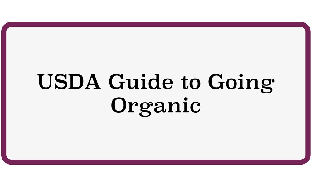 USDA Guide to Going Organic