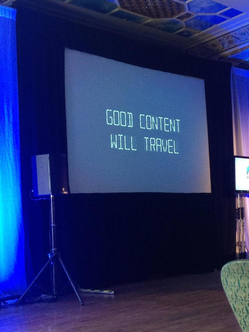 Favourite line of the conference, from CRTC Chairman, Jean-Pierre Blais.