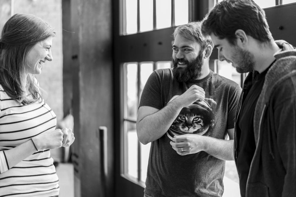 Alanna Williams , Executive Assistant |Jonathan Clemens, Production Director | James Harquail, Mobile Developer