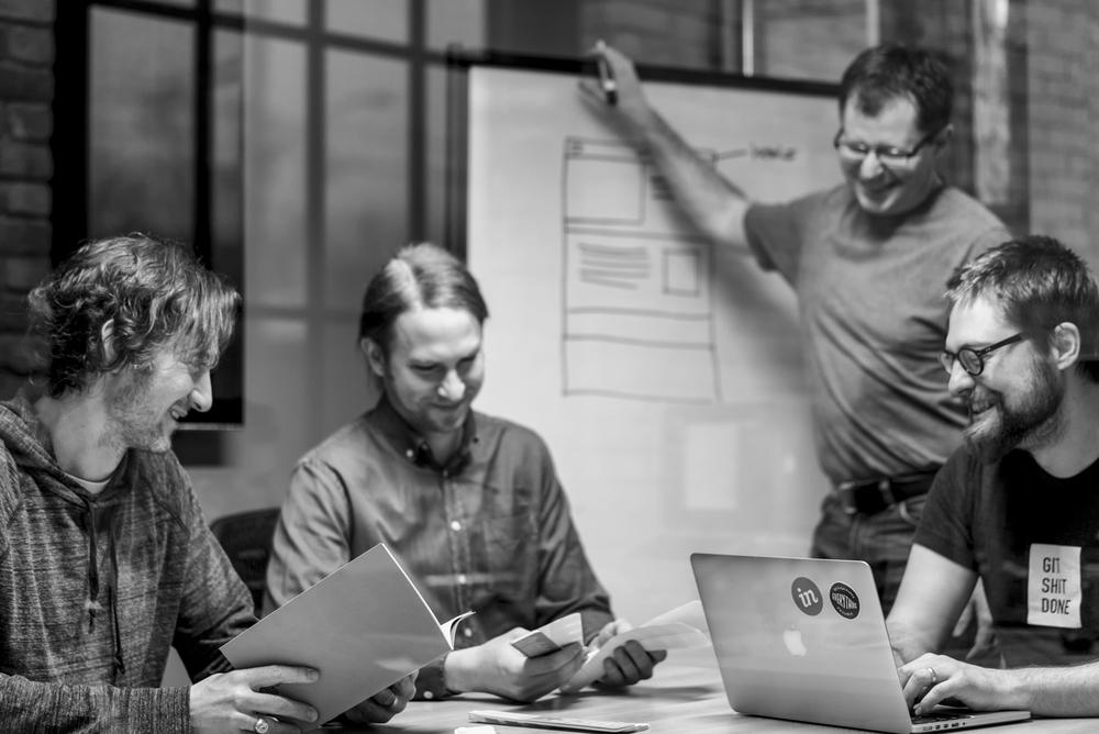 Josh Dow, VP Quality Assurance | Kevin Vansteenkiste,Intermediate Designer | Shawn Adamsson. VP Strategy | Gavin Blair, Lead Developer
