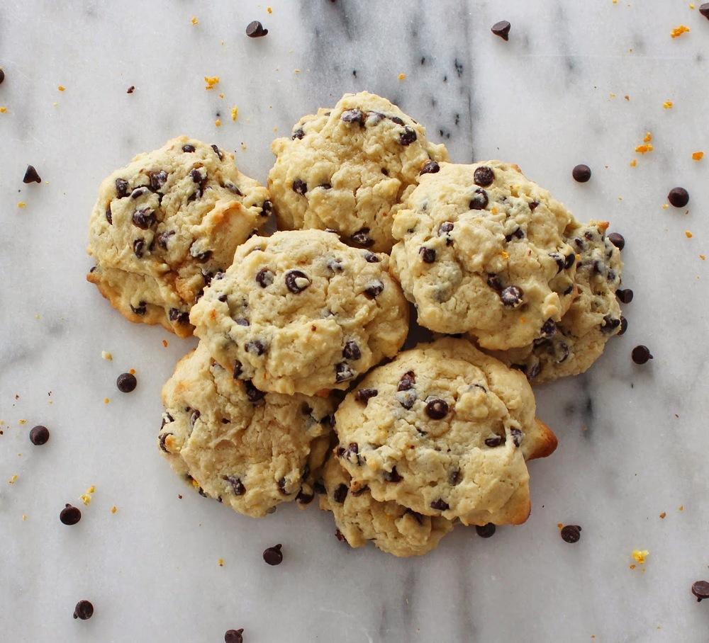 orange chocolate chip cookies