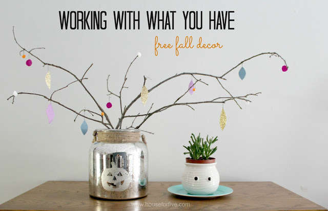 Working with what you have: free fall decor