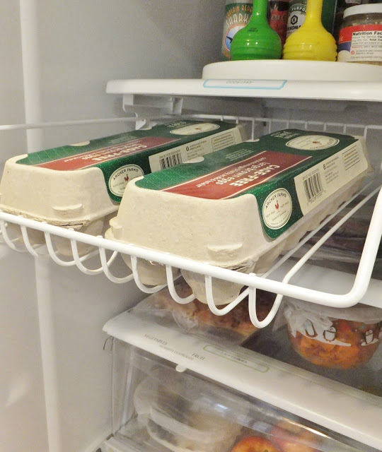 no cans?  use the racks to store egg cartons