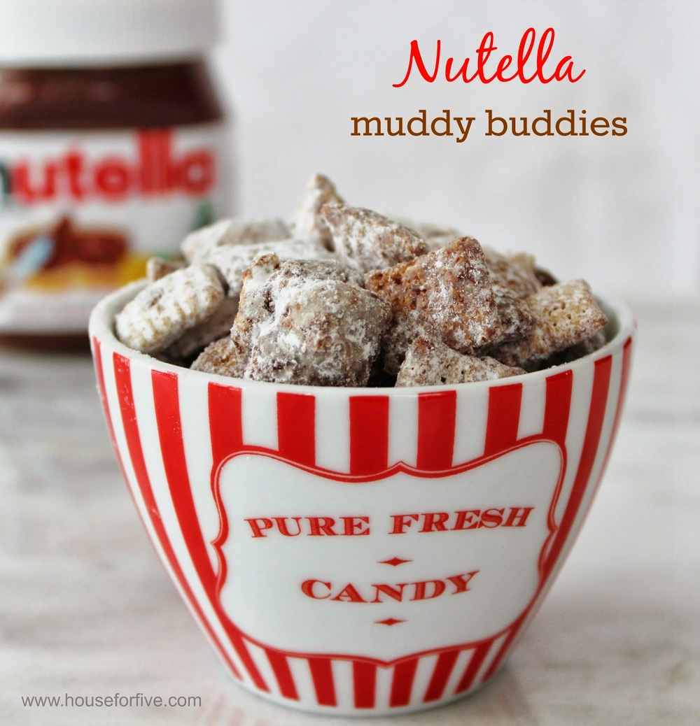 Nutella gluten free, peanut free muddy buddies