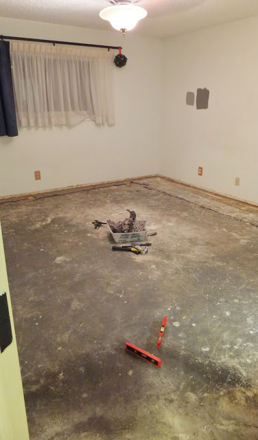 prepping a room for new flooring