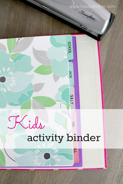 kids activity binder - a great way to keep track of the paperwork that comes with kids' activities