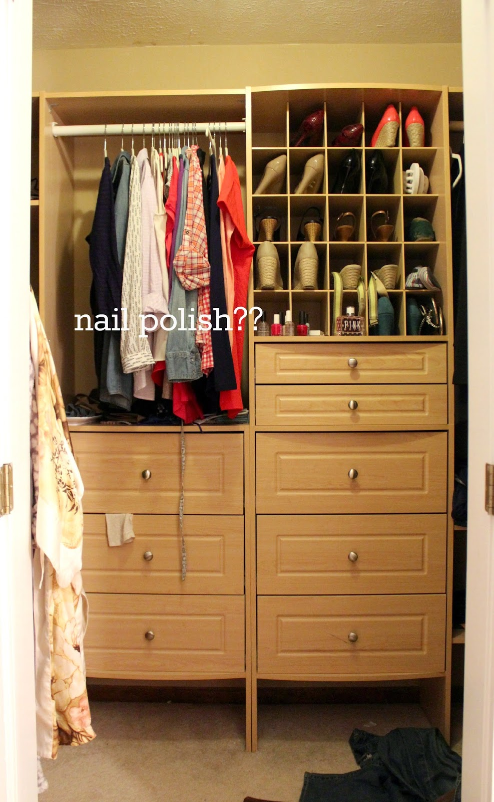 I Decided To Start With Our Master Bedroom Closet Because It Doesnu0027t  Involve A Ton Of Manual Labor Or Reworking. It Really Just Needs A Good  Clean Out And ...