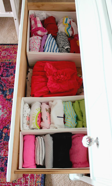 baby dresser organization for the nursery