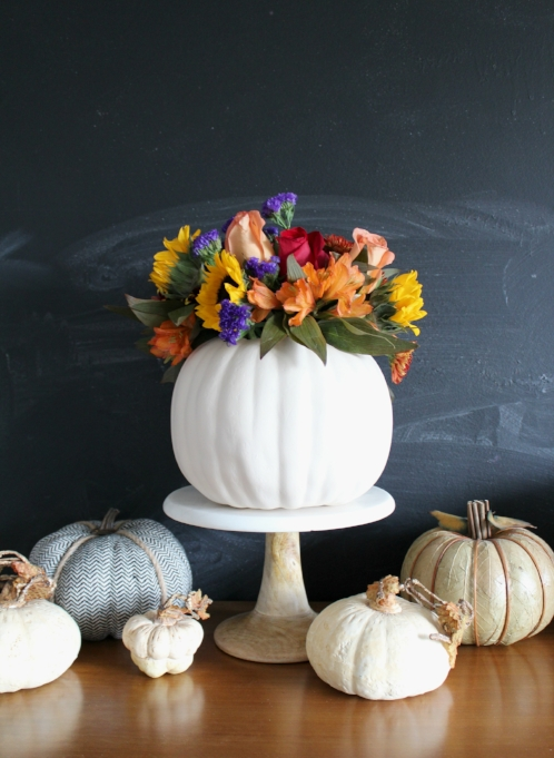 pumpkin flower vase