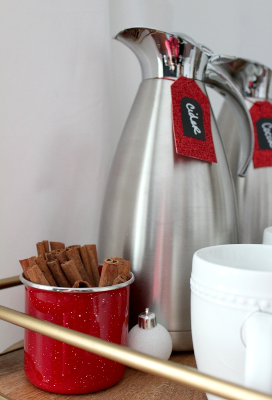Holiday hot drink cart