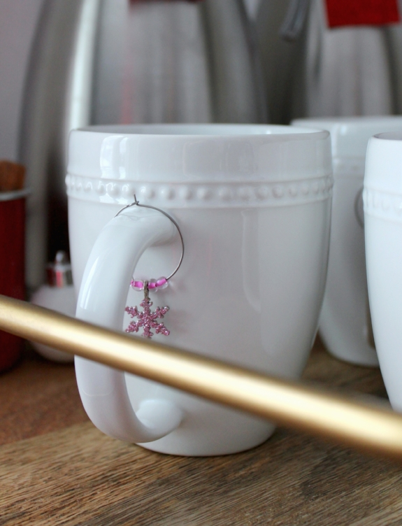 wine charms on mugs for hot drinks