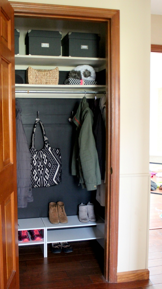 Quick Easy And Budget Friendly Coat Closet Makeover