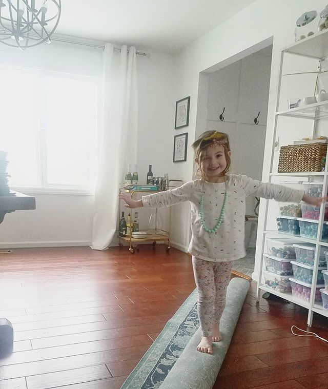 Muy snow days; muy cabin fever; muy furniture swapping and clutter busting. With a mini-helper at my hip, of course. #always #andshesalwaysfabulous