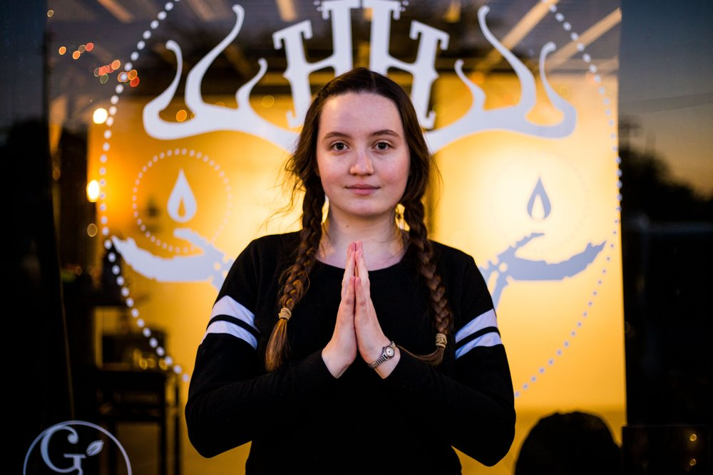 Emma Bell is a 200hr RYT and a graduate of the  All Bodies Rise Yoga mentorship. Her classes include low lighting and silky tunes that encourage students to move and breathe authentically. All bodies are welcome and encouraged to lean towards what feels good to them. Follow  Emma's All Bodies Rise Yoga  for more information and to get updates on future fundraisers and ongoing classes.