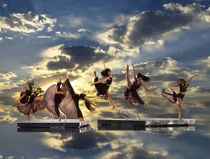 "Al Johnson, ""Dancers on a Raft"""