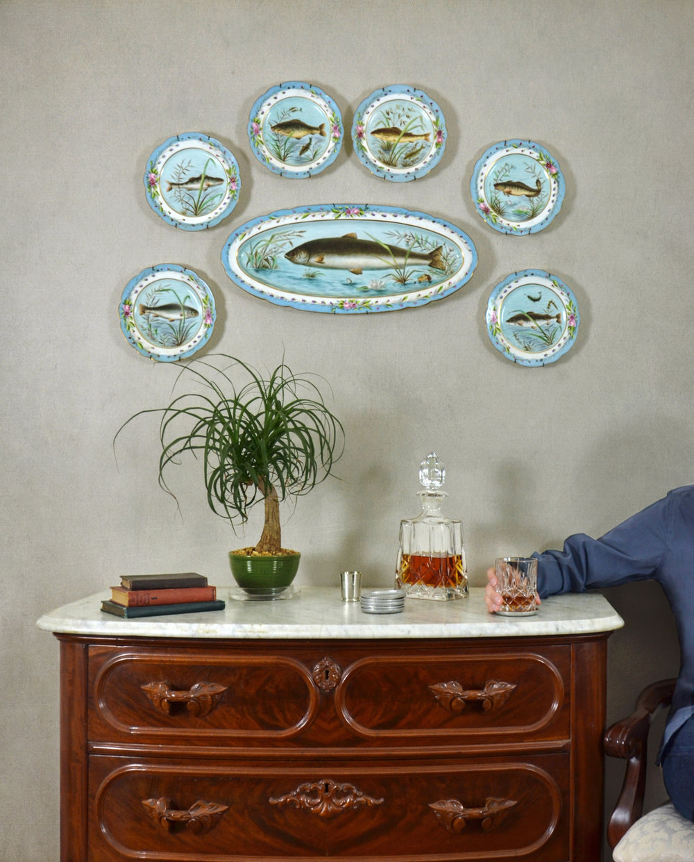 """2018 - Dale Niles, """"Fish Plates and Bourbon""""From the exhibition Rachel Reese Selects"""