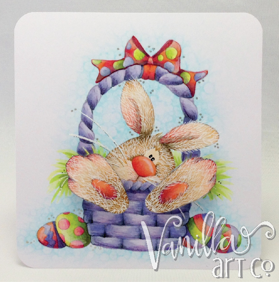 Easter Bunny Basket colored by VanillaArtsCo