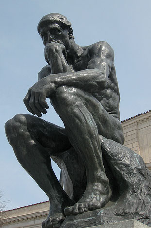 Rodin,  the Thinker . Detroit Institute of Art