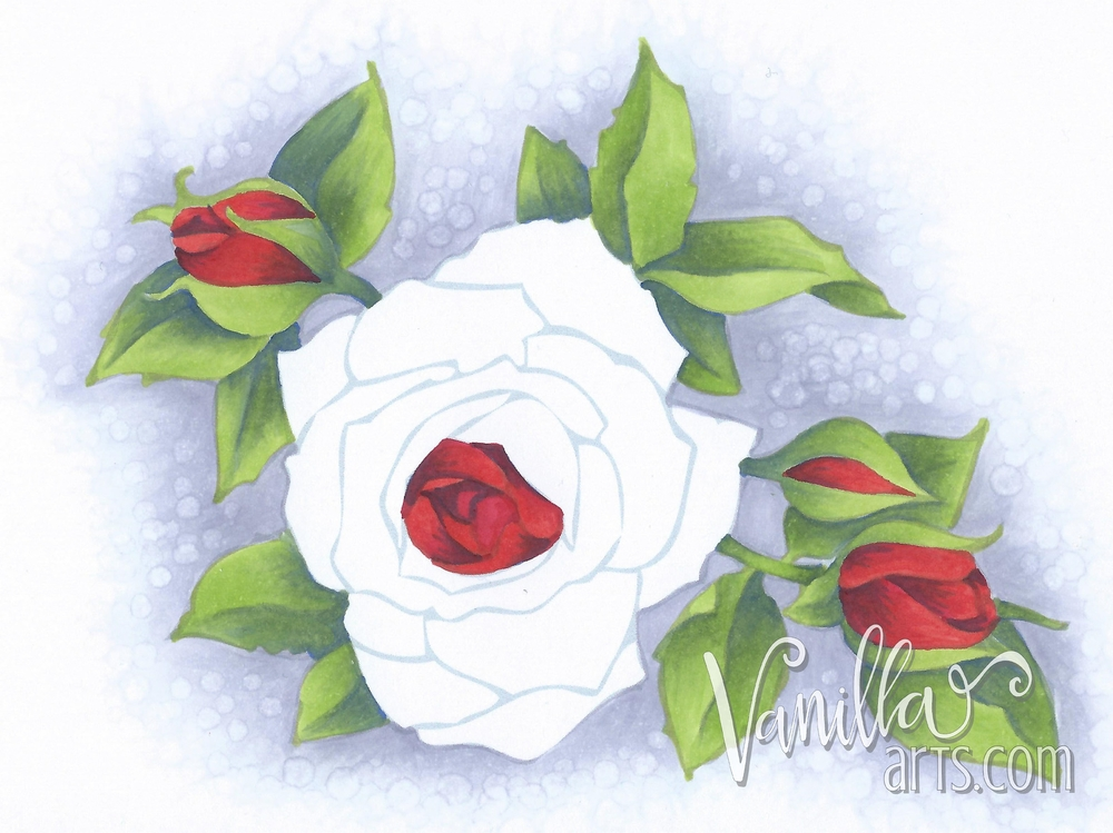 Timeless Rose by Stampendous | VanillaArts.com
