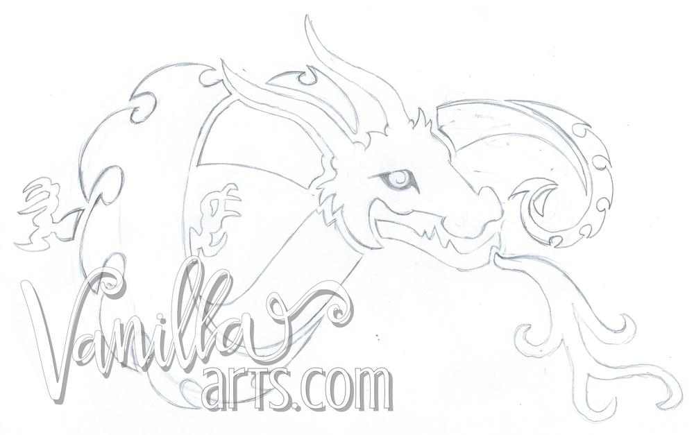 Dragon uroboros shape | VanillaArts.com