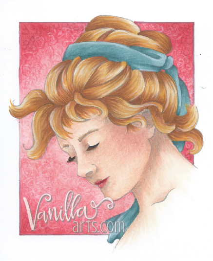 Learn to color beautiful skin and hair with Copic markers and colored pencils. It's not about maker selection, it's all in the technique. | VanillaArts.com