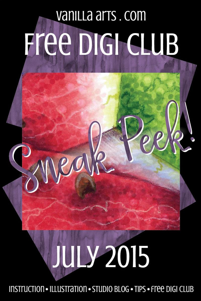 Free Digi Club Sneak Peak at July's Image | VanillaArts.com