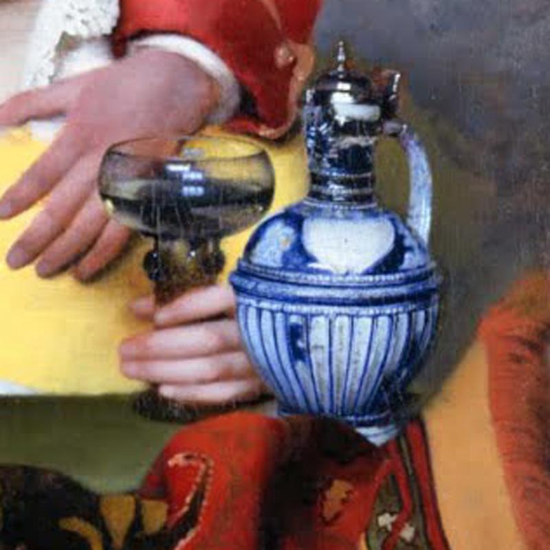 Detail of Vermeer's The Procuress | VanillaArts.com