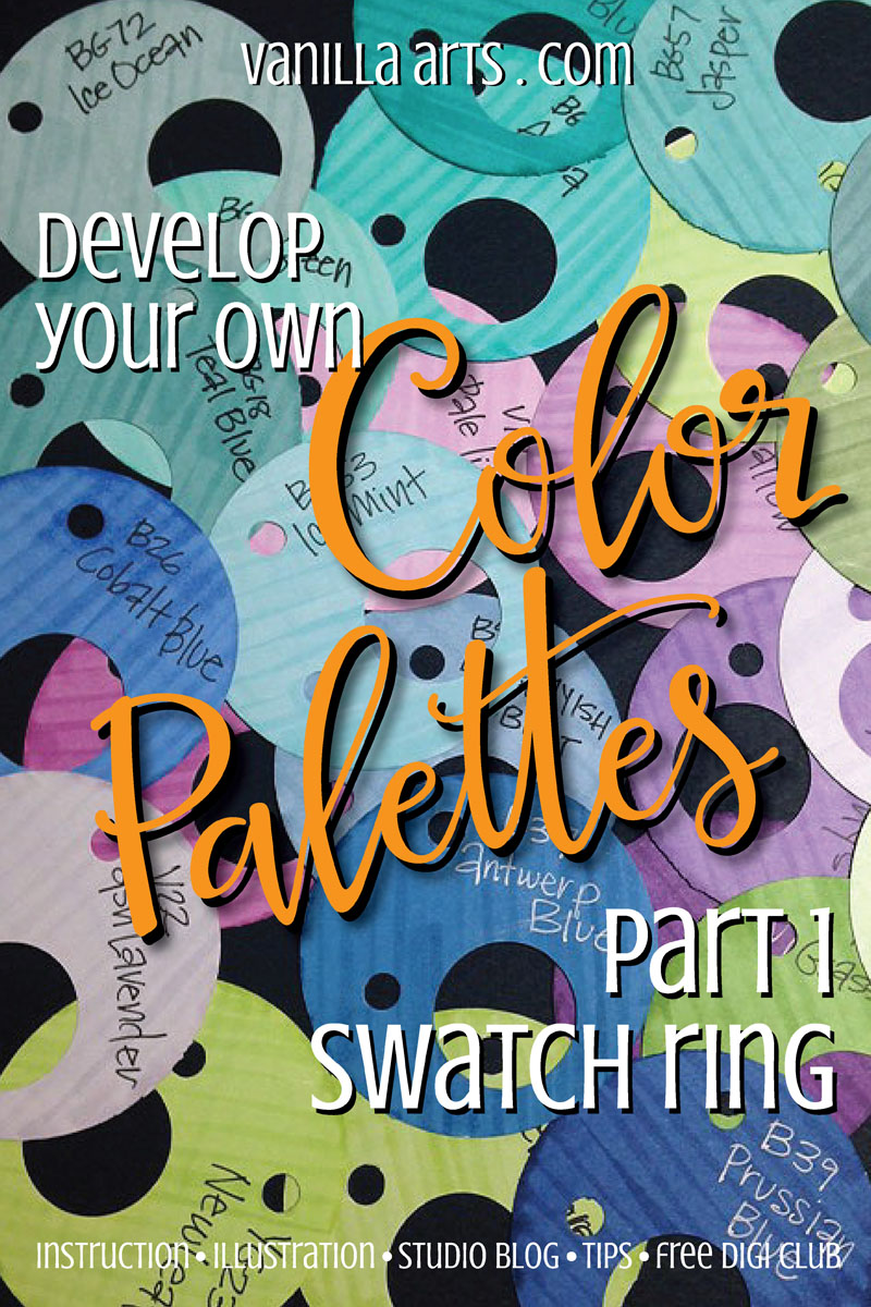 Learn to develop your own color palettes for Copic projects | VanillaArts.com