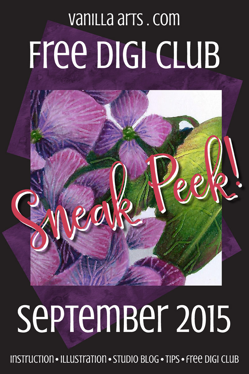 Free Digi Club- September's Free Image & Copic Speed Coloring | VanillaArts.com