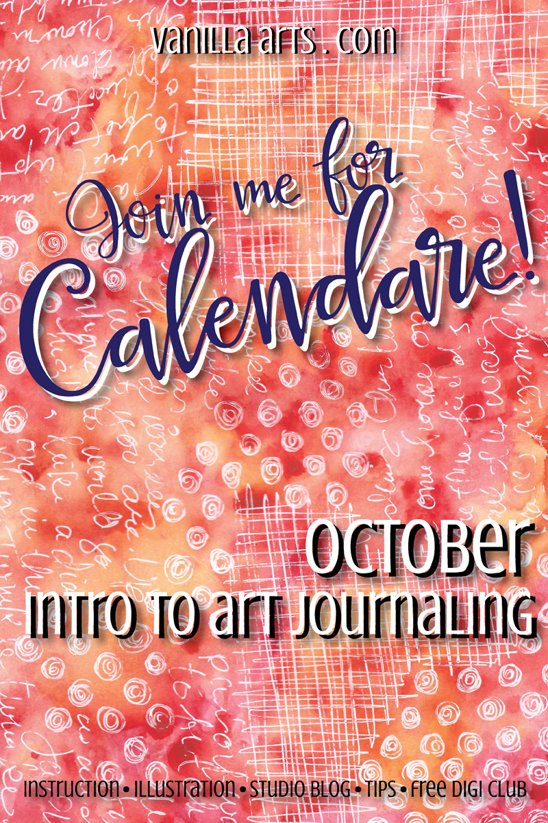 Calendare! Introduction to Art Journaling | VanillaArts.com