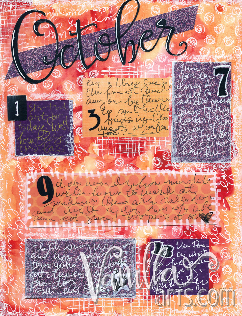 Calendare! Art journal layouts for beginning crafters | VanillaArts.com