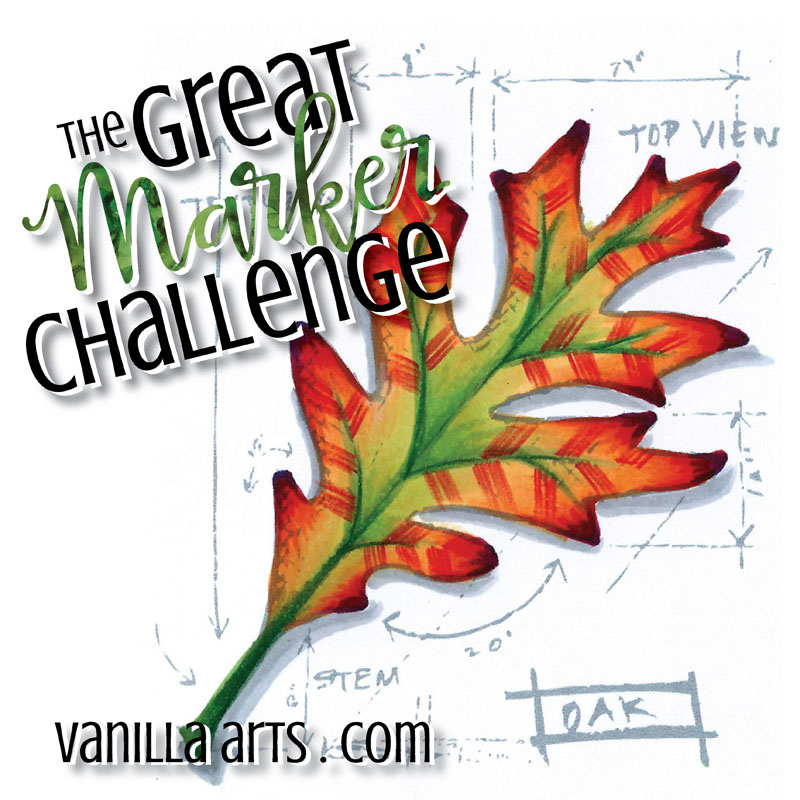 Great Marker Challenge-42 Copic Markers, 52 weeks | VanillaArts.com
