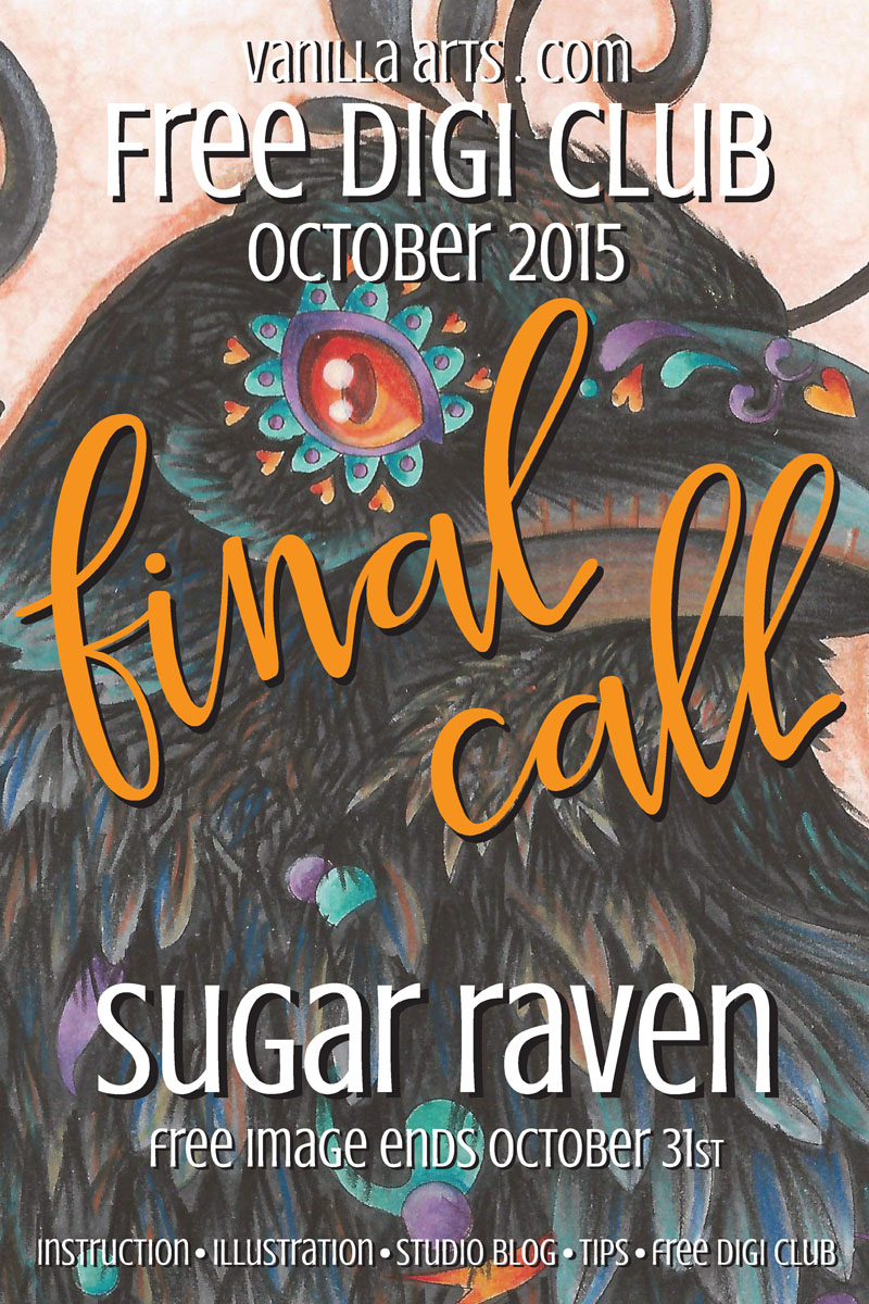 Final Call for October's Free Digi Club Image | VanillaArts.com