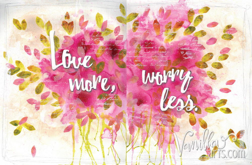 Easy Art Journaling, 12 Pages Class, Feb 2016 | VanillaArts.com