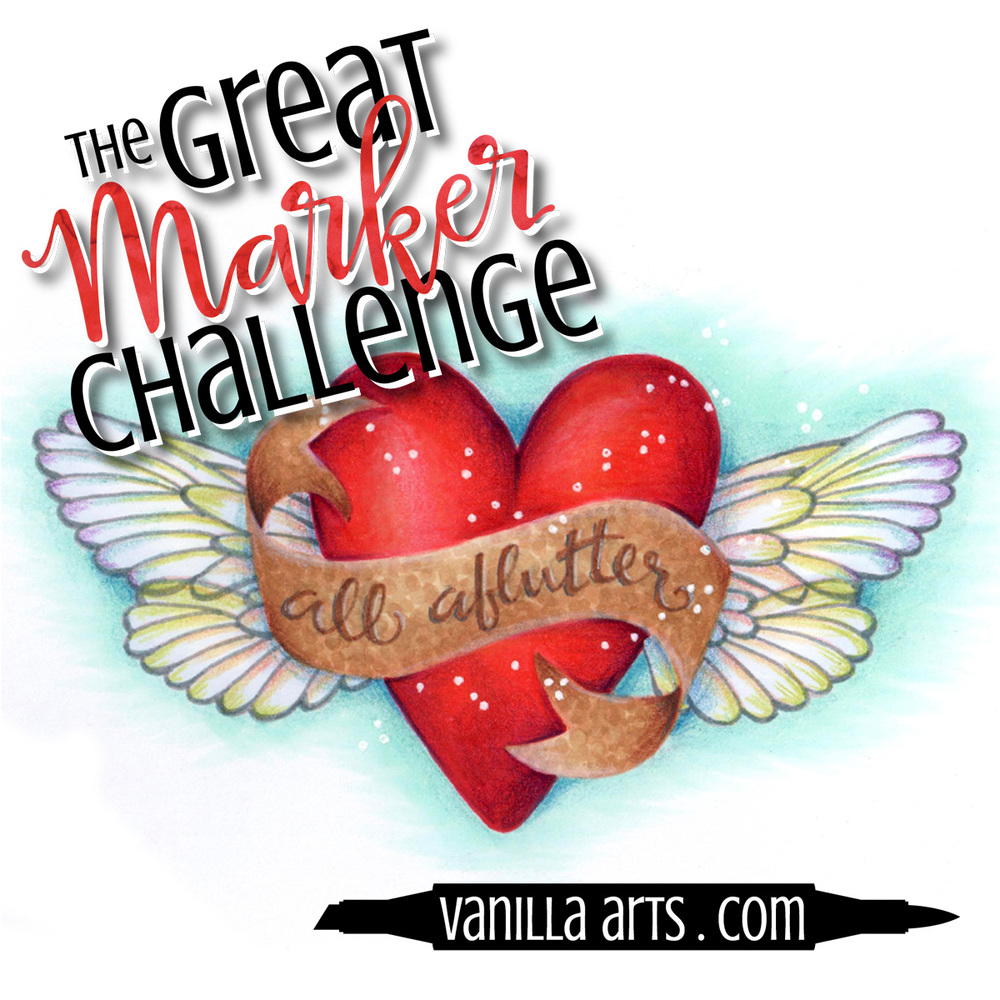 Great Marker Challenge- Coloring Images with a Limited Palette of Copic Markers | VanillaArts.com