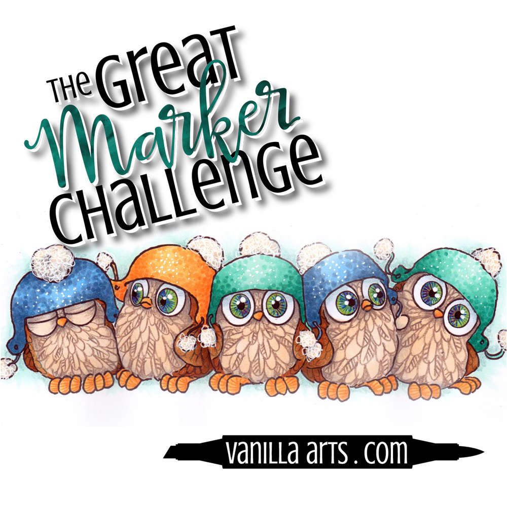Great Marker Challenge- Digi stamp by VanillaArts.com