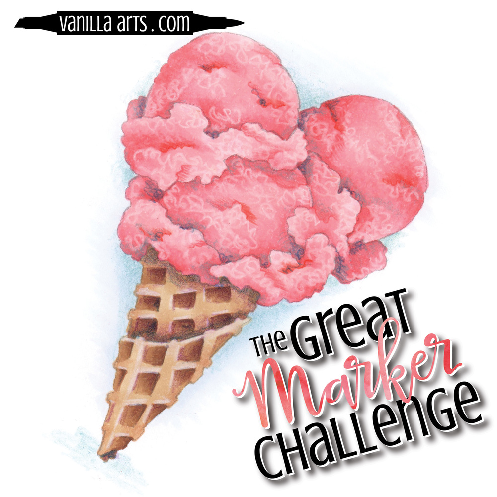 Great Marker Challenge- coloring images for a year with my recommended Copic starter kit | VanillaArts.com