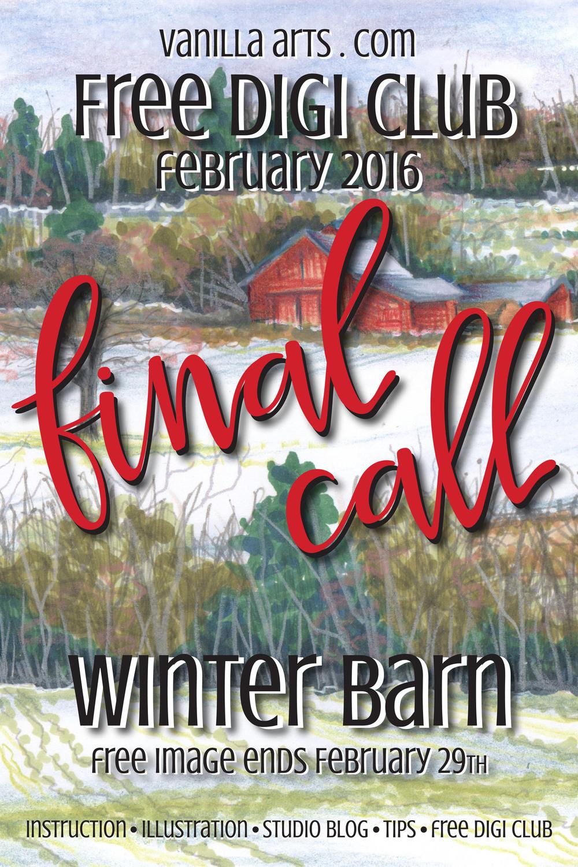 Final Call to get February 2016's Free Digi Club Image | VanillaArts.com