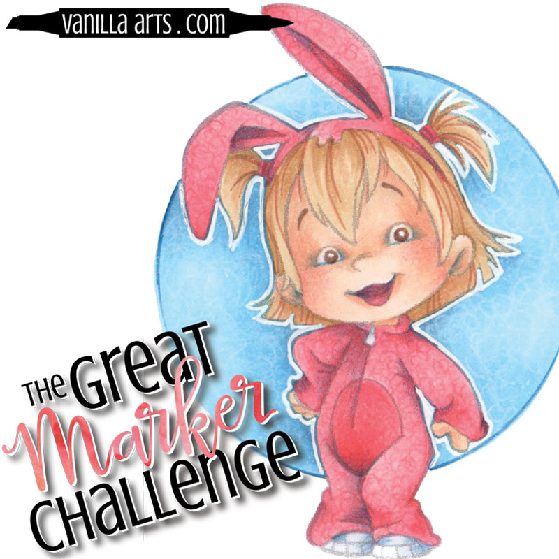 "Great Marker Challenge- Testing my Copic starter kit recommendations w/ CC Designs ""Bunny Twila""  