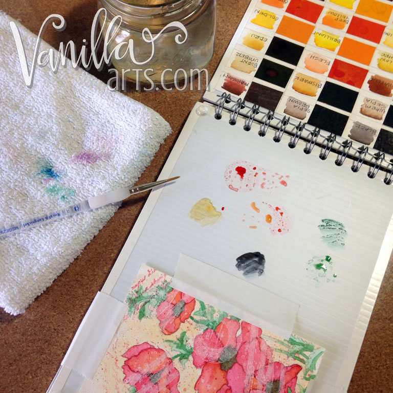 Make a Peerless Travel Palette | VanillaArts.com
