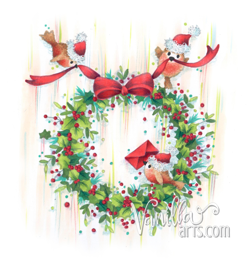 """Christmas Wreath"" by Wild Rose Studio- Taming Complex Images 