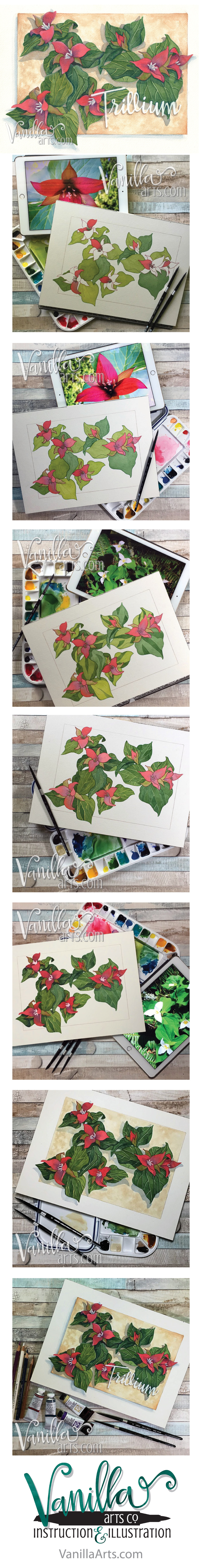 June 2016's H2Oh! class project. Teaching intermediate marker colorers to watercolor | VanillaArts.com